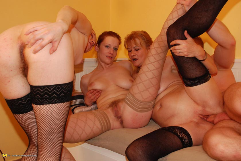 Mature sex party fucking
